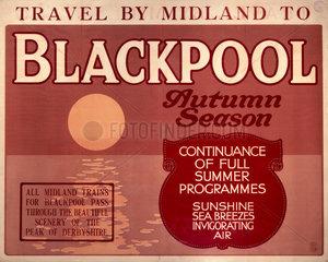 Blackpool  Midland Railway poster  c 1930s.