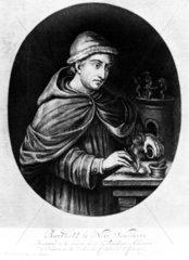 Berthold Schwarz  German Franciscan monk  c 1380.
