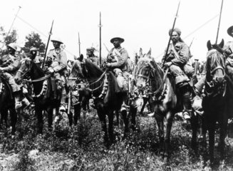 Indian Mounted Cavalry waiting to attack  W