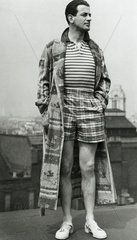 Modelling for the Men's Wear Council  Waldorf Hotel  London  9 May 1939.
