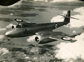 Gloster 'Meteor' over Farnborough  September 1950.