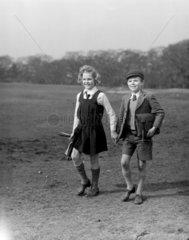 Two schoolchildren  1948.