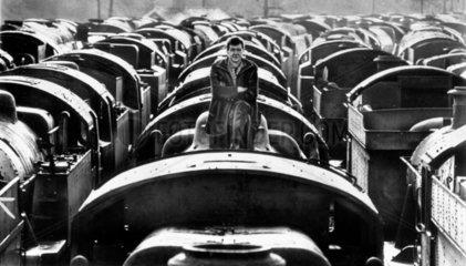 A locomotive graveyard  Barry  Glamorgan Wa