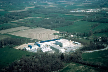 Aerial view of the L3 site  CERN  1990s.