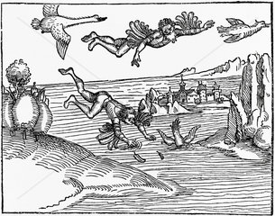 'The Flight of Daedalus and Fall of Icarus'  1493.