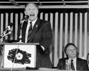 Neil Kinnock and Arthur Scargill  June 1987.