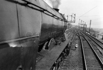 'Colombo' steam locomotive on the East Coast Main Line  c 1954.
