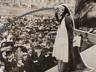 Charlotte Despard speaking at Trafalgar Square  London  c 1910s.