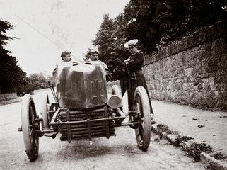 Fernand Gabriel's Mors at the Gordon Bennett Trophy race  Athy  Ireland  1903.