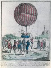 Charles re-ascending alone at Nesle  France  1 December 1783.