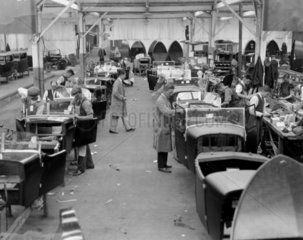 A production line at Lanchester Cars  Coventry  22 September 1931.