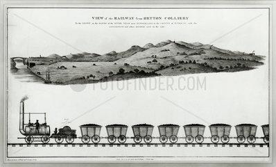 Hetton Colliery railway  Hetton-le-Hole  County Durham  c 1822.