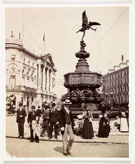 Piccadilly Circus  c 1900.