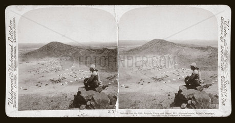 'Looking over 12th Bde Camp and Signal Hill  Slingersfontein  South Africa'  1900.