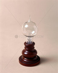 Very early Edison carbon filament lamp  1879.