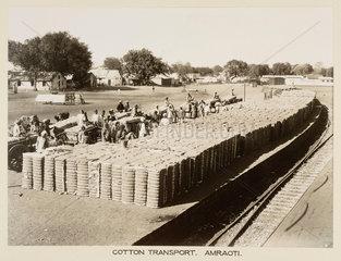 Cotton traffic  Amravati  India  c 1930.