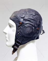 Leather flying helmet  c 1939-1945.