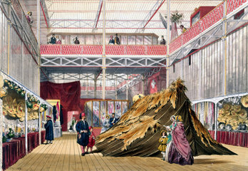 Tunisian No 1 stand at the Great Exhibition  Crystal Palace  London  1851.