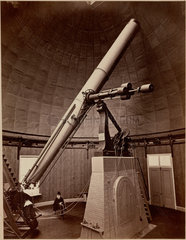 Refracting telescope with equatorial mounting  Washington DC  USA  1876.