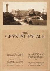 Auction catalogue of the Crystal Palace  Sydenham  1911.