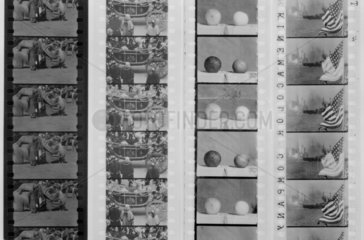 Kinemacolour film samples.