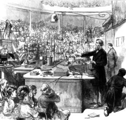 John Tyndale lecturing  Royal Institute  1870.