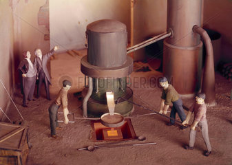 Bessemer iron-making workshop  St Pancras  1856.