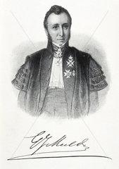 Gerrit Jan Mulder  Dutch chemist  c 1850.