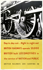 'Day in  Day out...'  BR poster  1948-1965.