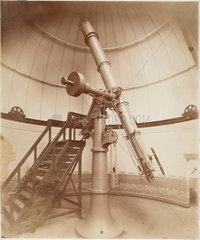 Cook refractor telescope  Wigglesworth Observatory  Scarborough  1885.
