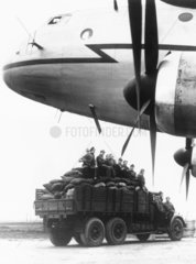 First giant air freighter of the RAF during