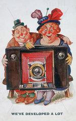 'We've developed a lot'  postcard  1925.