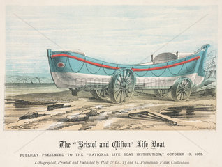 The Bristol and Clifton Life Boat  1866.