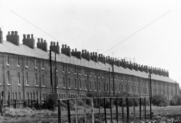 Terraced houses near Manchester  May 1975.