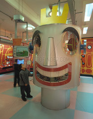 'Mechanical Head' interactive exhibit  Science Museum  London  2000.