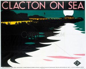 'Clacton-on-Sea'  LNER poster  1923-1947.