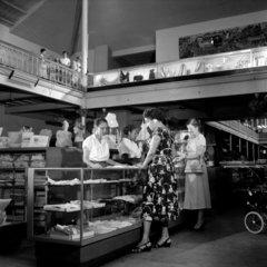 Ground floor counter of local department store  Trinidad  1958.