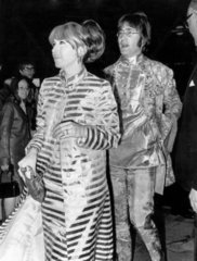 John Lennon and his first wife Cynthia  19 October 1967.