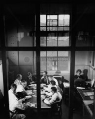Works management: an office conference Tillotsons  Liverpool  1956.