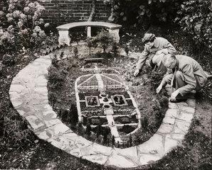 Model garden  Folkestone  1 December 1954.