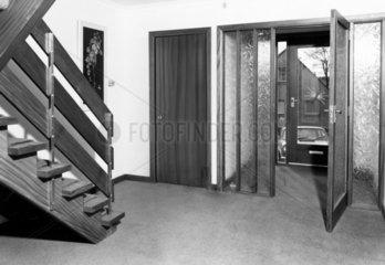 Entrance hall of a house  Scotland  November 1975.