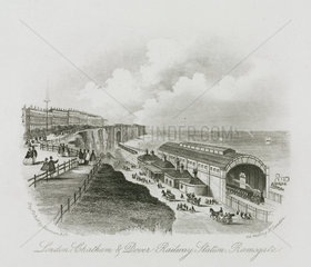 'London  Chatham and Dover Railway Station  Ramsgate' Kent  19th century.