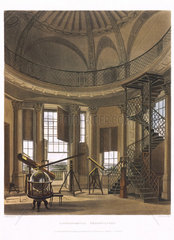 Interior view of Radcliffe Observatory  Oxford  1814.