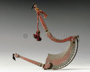 Steel betel nut cutter  Indian  19th century.
