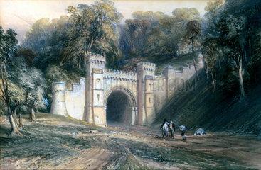 Shugborough Tunnel  Staffordshire  c 1846.