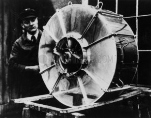 Von Ohain's first experimental turbojet  c 1935.