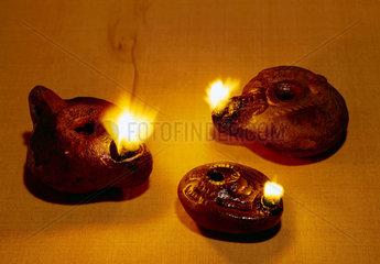 Oil lamps  1st century BC-1st century AD