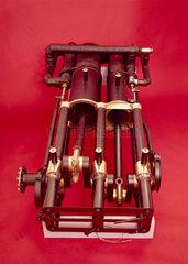 The steam engine of Sir Hiram Maxim's flying machine  1894.