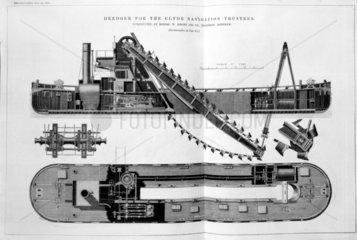 'Dredger for the Clyde Navigation Trustees'  1871.