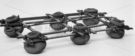 A Gharnai (a raft of pots) from the Gaya River  near Patna  India  c 1851-1929.